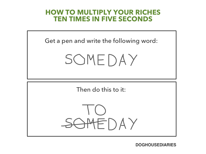 How to Multiply Your Riches Ten Times in Five Seconds